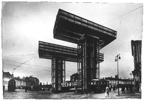 El Lissitzky - Horizontal Skyscraper Project (Wolkenbugel), 1925