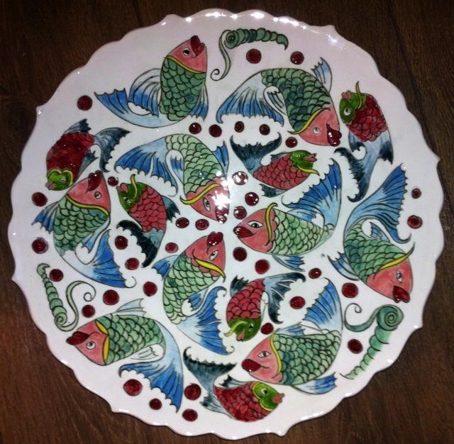 MADE BY Benian arsiray @benianarsiray ceramic tile çini pottery fish balık