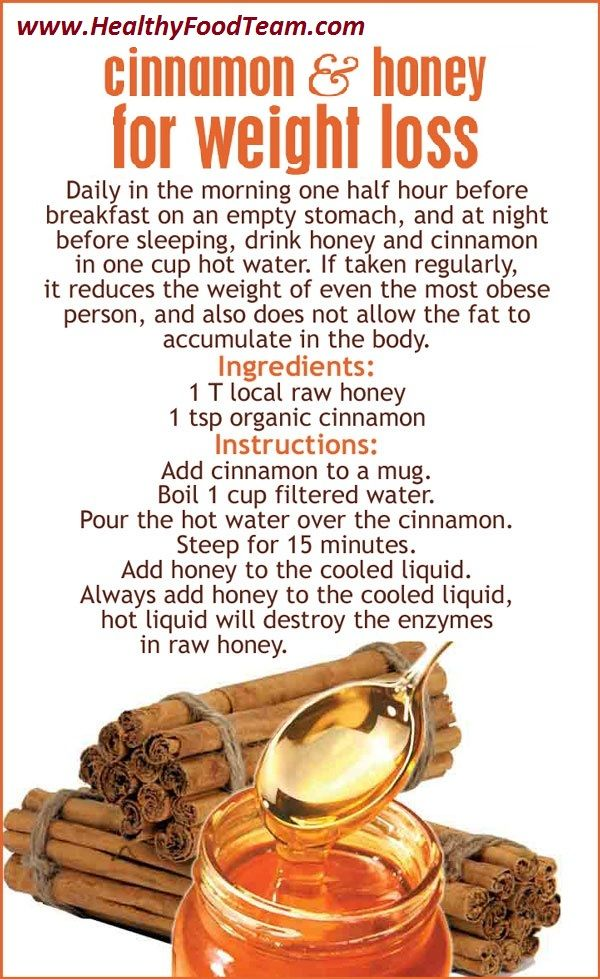 Cinnamon And Honey For Weight Loss ! Skeptical on the weight loss claim, but this sounds delicious.