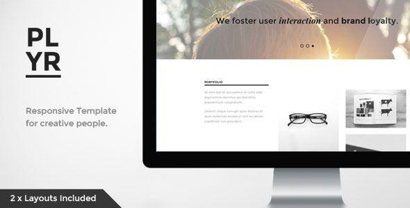 Player - Responsive, Parallax Portfolio - Creative Site Templates