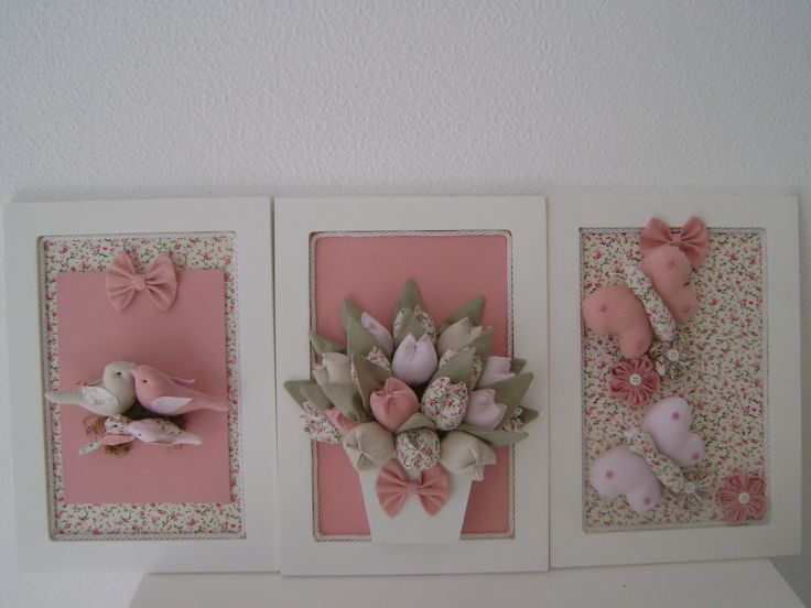 Trio de quadro jardim