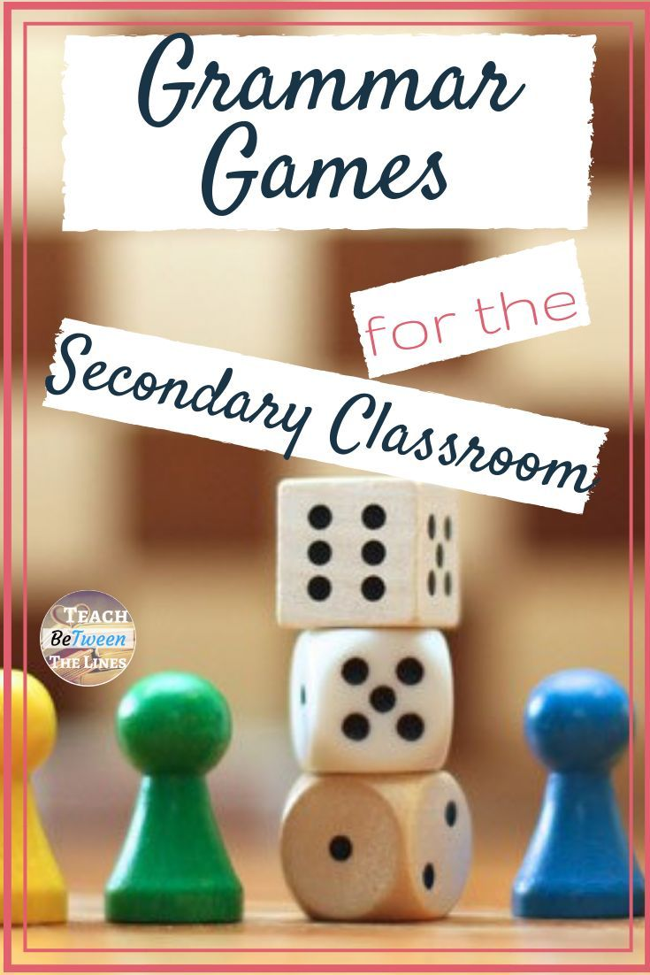 Grammar Games For The Secondary Classroom Grammargames Grammar Games Secondary Classroom Teaching