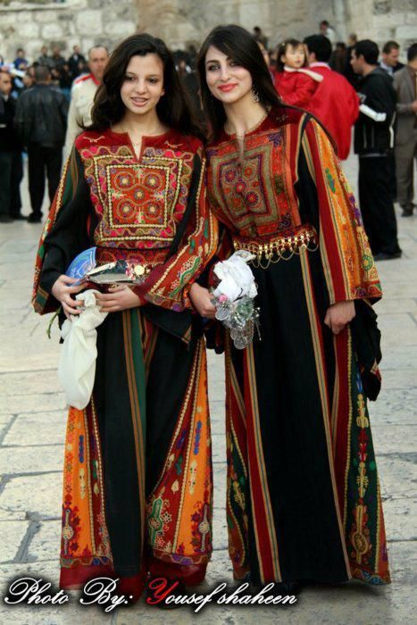 Palestinian traditional dresses