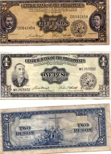 myLot - old philippine peso bills