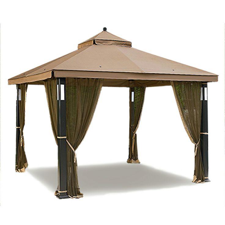 Garden Oasis Lighted Gazebo Replacement Canopy - RipLock 350
