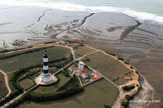 Phare de Chassiron (lighthouse) on the western tip of Ile d'Oléron, Charente-Maritime, France.