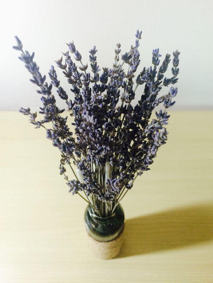 Handmade -oil reed diffuser @lavender @dry flower