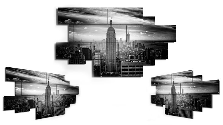 12 pieces wall art - 206x119 cm