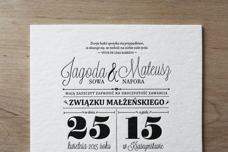 Black & White Letterpress Invitations