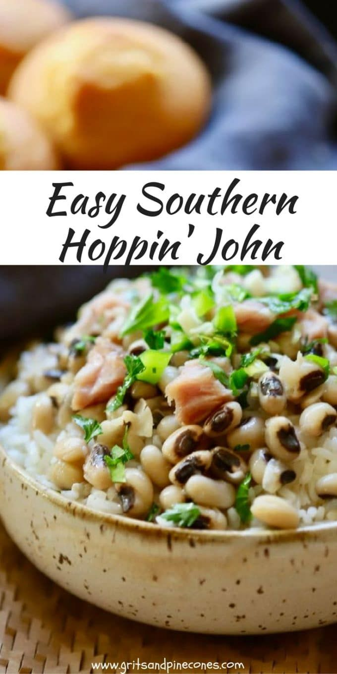 A New Year's Day tradition in the South is eating Hoppin' John for dinner. Hoppin' John is easy and healthy and is cooked Black-Eyed Peas served with rice.   via @gritspinecones