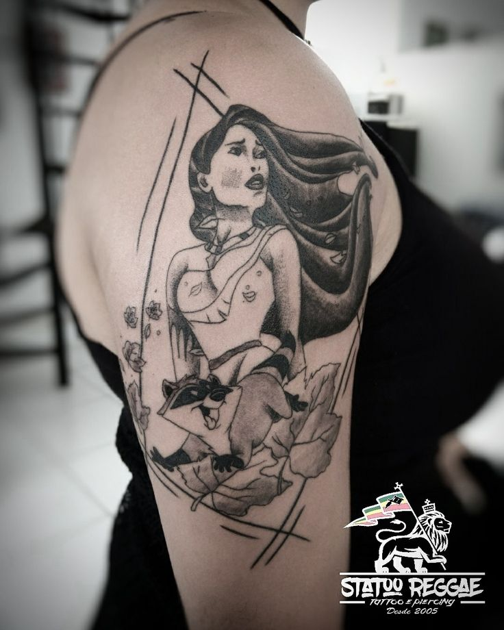 Pocahontas tattoo by @marcaoracaruim