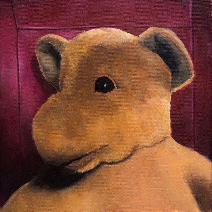 Zdánlivá nevinnost, Oil on canvas, 50x50cm