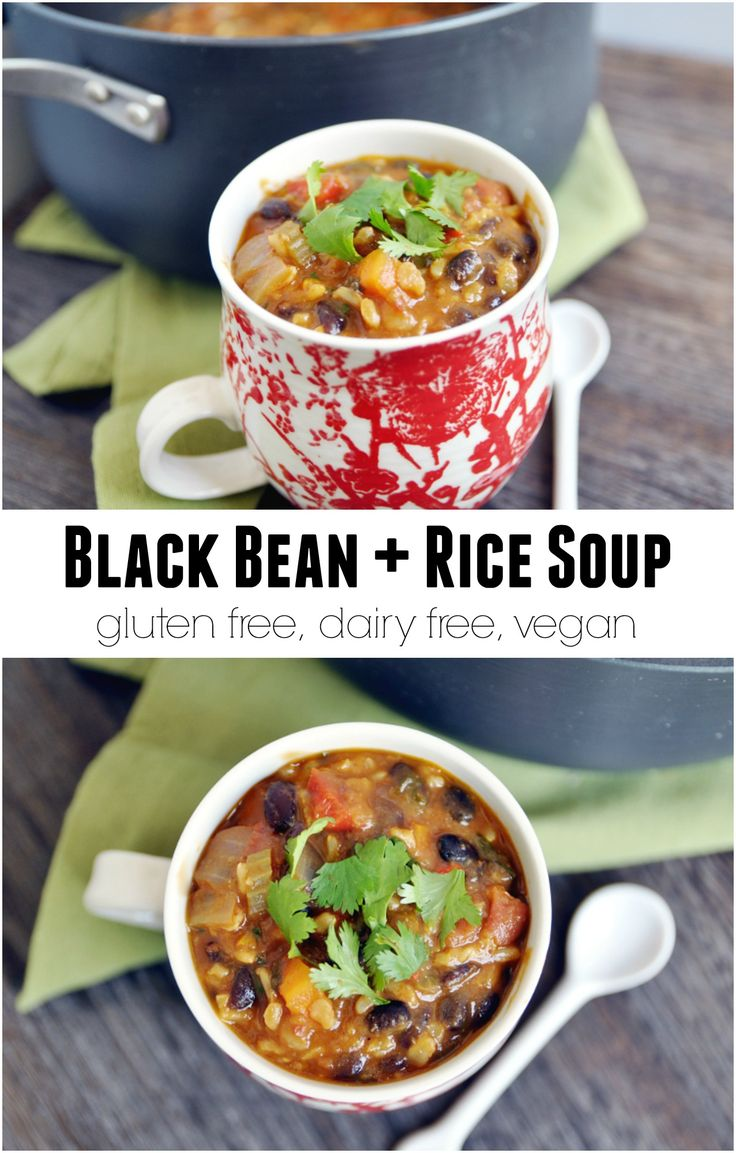 Black Bean and Rice Soup - i like to add corn, & just pass on the celery & carrots