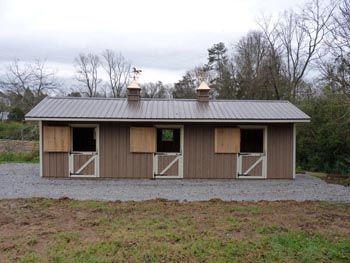 Small horse stalls and barns.