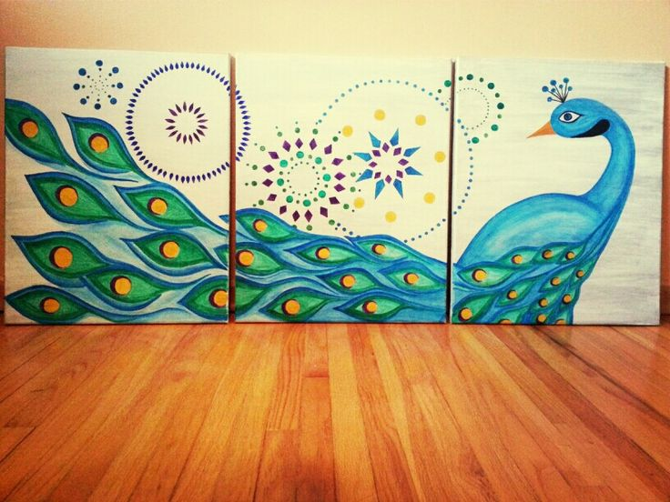 1000+ Ideas About Peacock Canvas On Pinterest