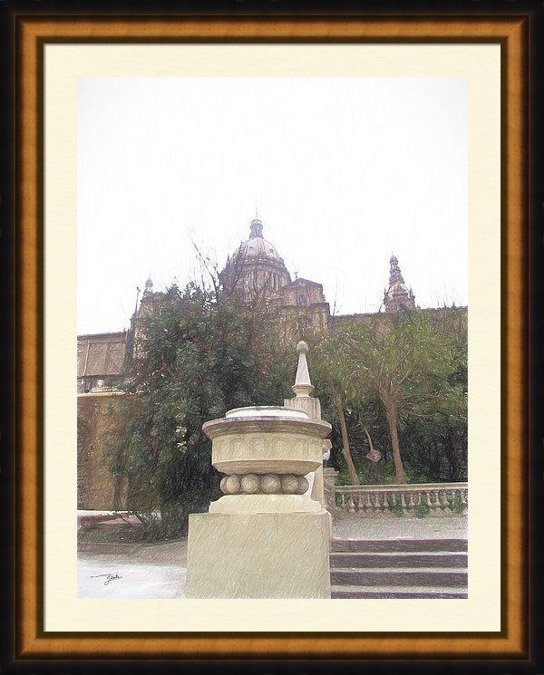 Barcelona Framed Print featuring the painting Barcelona, Morning by Joaquin Abella