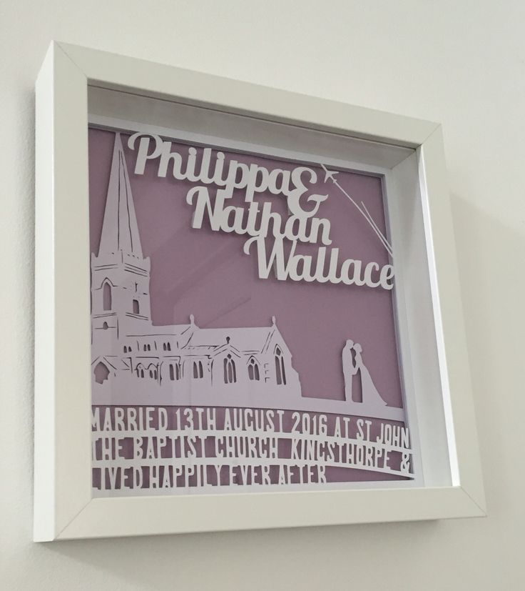 Bespoke wedding papercut gift with church - Wallace Imagery