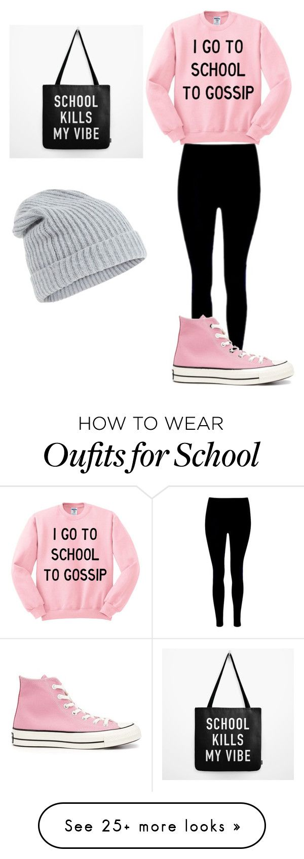 """""""school"""" by maggiegr on Polyvore featuring Converse and Accessorize"""