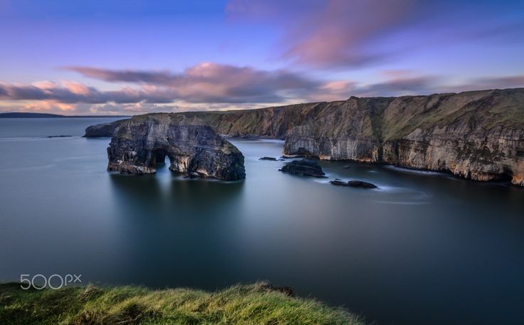 Virgin Rock - Virgin Rock, Ballybunion, Kerry, Ireland. Lies on the coast of Ireland, Virgin Rocks stands on Nuns Beach, a beach only accessible by rope for the brave!