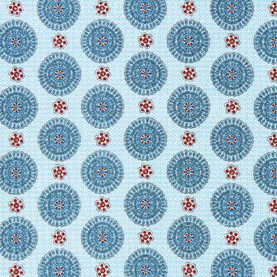 Tessuto per camicette Mandala caleido – turchese