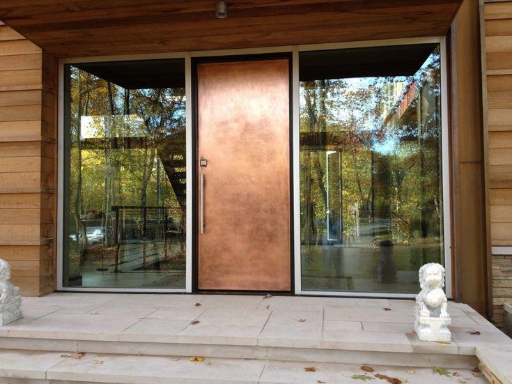 Metal Entry Door Panels & 16 best Copper Doors images on Pinterest | Copper penny Bronze ... pezcame.com