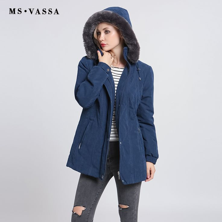 MS VASSA Ladies Parkas 2017 New Autumn Winter Padded Women Jacket Detachable Hood Nice Faux Fur Plus Size 7XL Casual Outerwear -  Compare Best Price for MS VASSA Ladies Parkas 2017 New Autumn Winter padded Women jacket detachable hood nice faux fur plus size 7XL casual outerwear product. This shopping online sellers give you the information of finest and low cost which integrated super save shipping for MS VASSA Ladies Parkas 2017 New Autumn Winter padded Women jacket detachable hood nice…