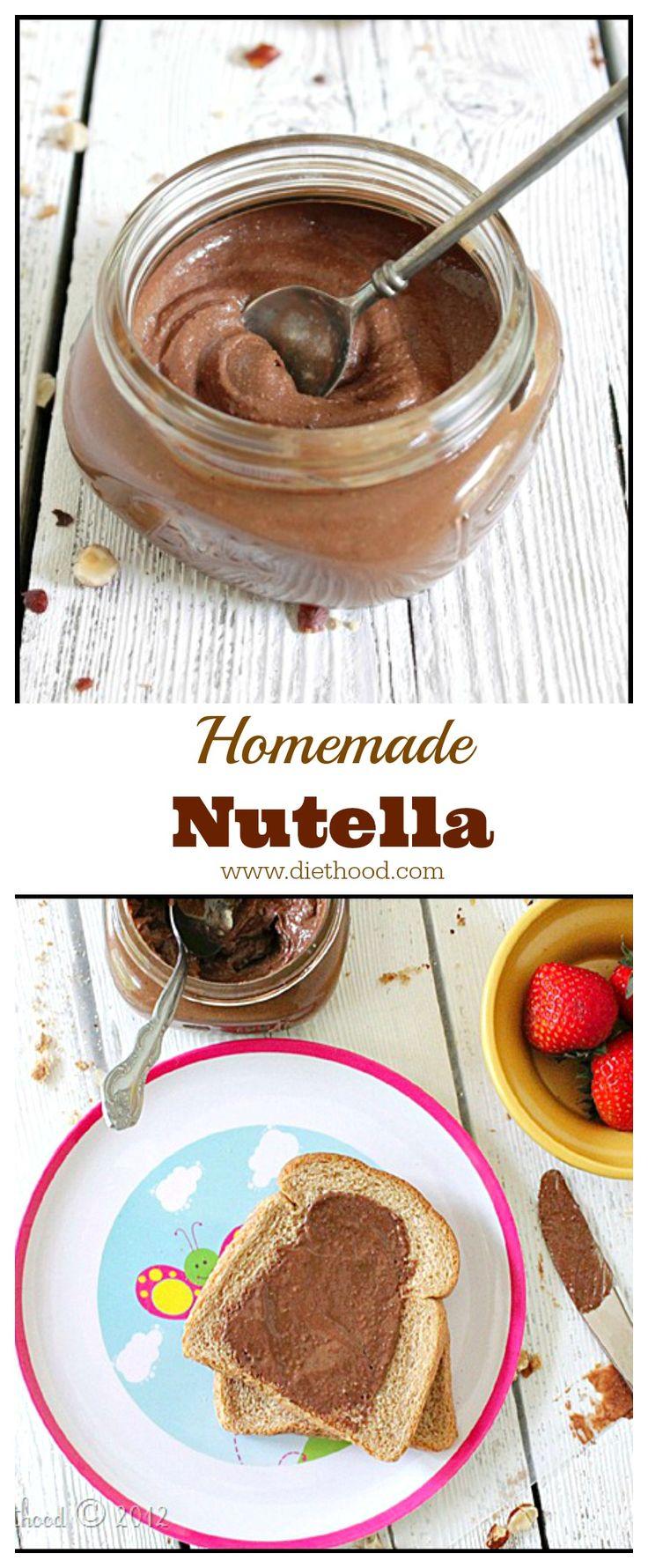 Homemade Nutella   www.diethood.com