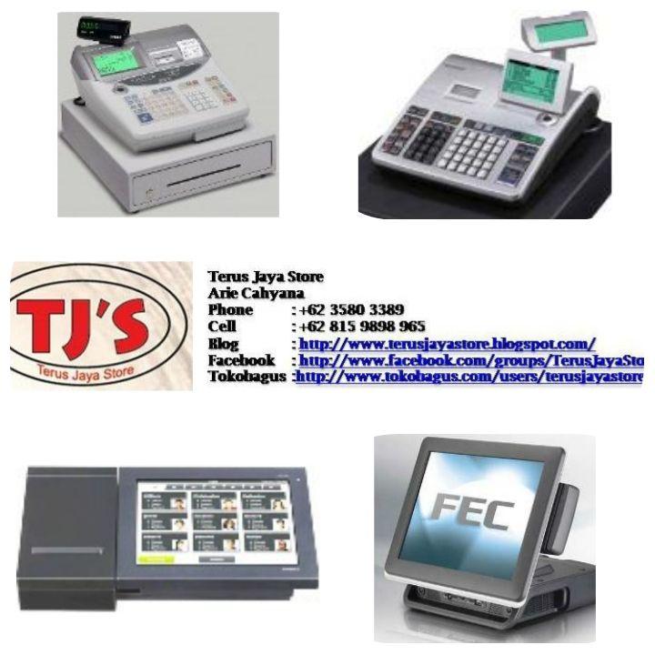 Cash Register (Mesin Kasir)  Type lain yang dapat menjadi pilihan : - Casio SEG1  - Casio SEC300OM - Casio TE2200 - Casio TE2400 - Casio TK3200 - Casio VX100 - Casio QT6100 - Casio Vivipos - Casio MegaPOSPro   Call : TerusJayaStore Arie Cahyana  Hp: +628159898965 Email : arie_cahyanas@ymail.com  Web      : http://www.google.com/+TerusJayaStoreArieCahyana/  Blog     : http://www.terusjayastore.blogspot.com/        Facebook : https://www.facebook.com/groups/TerusJayaStore/