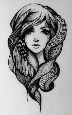 So in love with this. The feathers and the octopus tentacles.