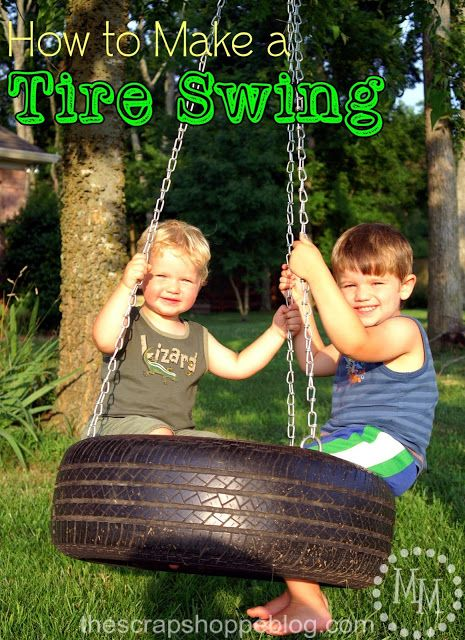 How To Make a Tire Swing - Todays Creative Blog