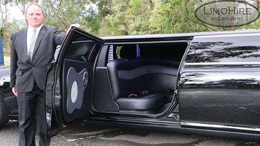 12 Seater Black Chrysler Limousine is the perfect transportation for your special occasion! Call us on 1300 780 581.