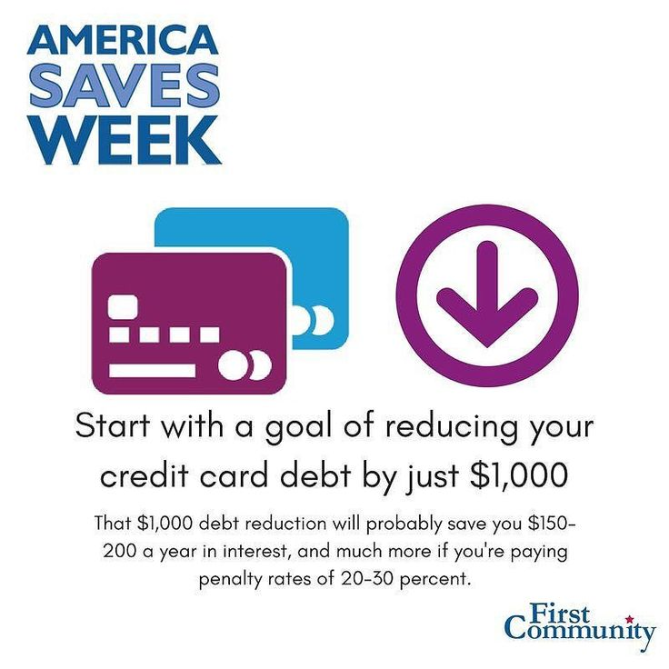 Our day two tip for #AmericaSavesWeek is focused on paying off credit card debt. Start by paying off your debt with highest interest rate first. Those high interest fee charges you're racking up is like throwing money down the drain. The quicker you can reduce or pay off high interest cards the more you can focus that additional money to a savings account or paying off other debt.