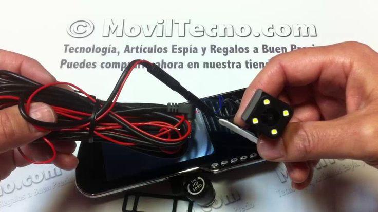 Espejo retrovisor con cámara y GPS - MovilTecno.com