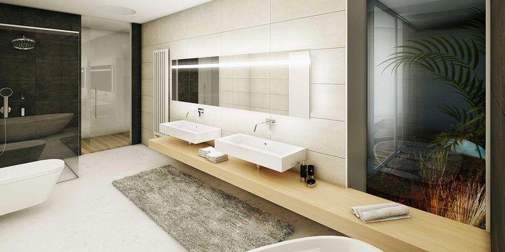 Vila v sadu - koupelna