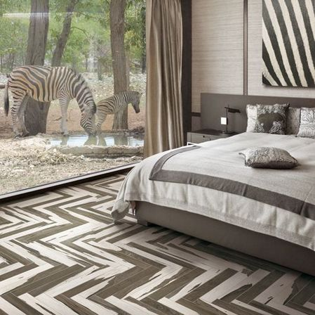 This Bedrooms Nature Inspired Flooring Is From New York NY Based