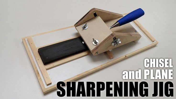 Making an easy to use chisel and plane iron sharpening jig.