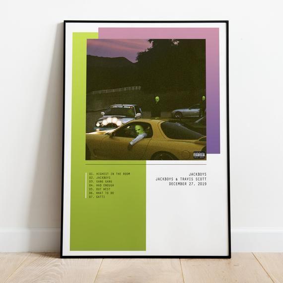 Travis Scott Jackboys Album Poster Wall Art Print A3 A2 A1