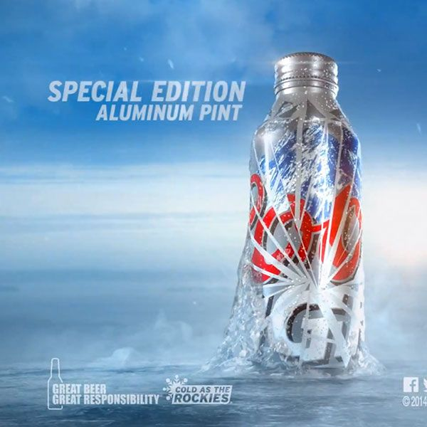 coors light breaks the ice special edition pint commercial