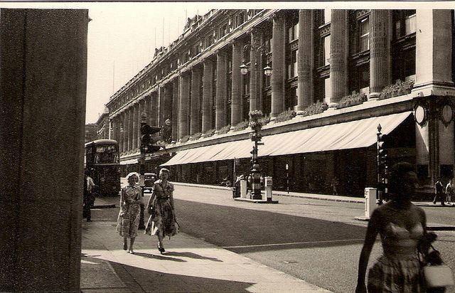 Selfridges, Oxford Street, London, c.2 August 1955