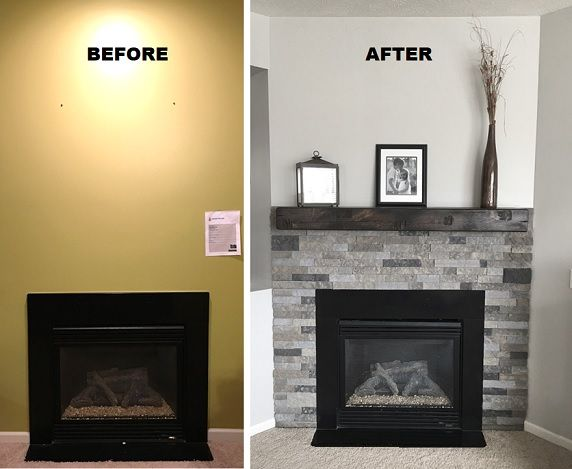 A Little Airstone And The Right Paint Can Make All The Difference Easy To Install Get It With Images Airstone Fireplace Electric Fireplace Decor Brick Fireplace Remodel