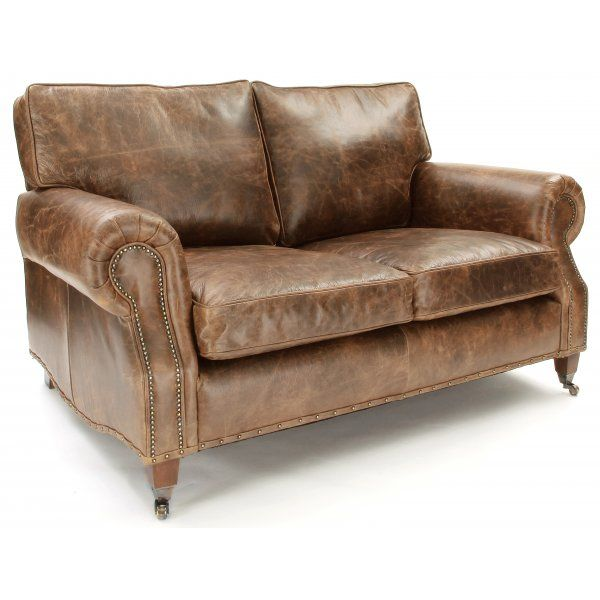 Hepburn A Shabby Chic Vintage Leather Small 2 Seater Sofa From Old Boot Sofas Quality Hand Crafted With Free Delivery