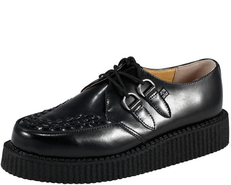 T.U.K. Shoes | Creeper: Black Woven, Creepers Items, Classic Creepers, Originals Creepers, Shoes 80U, Leather Mondo, Black Leather, Creepers Shoes, Leather Low