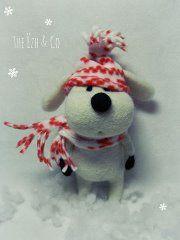 Snow Dog needle felted