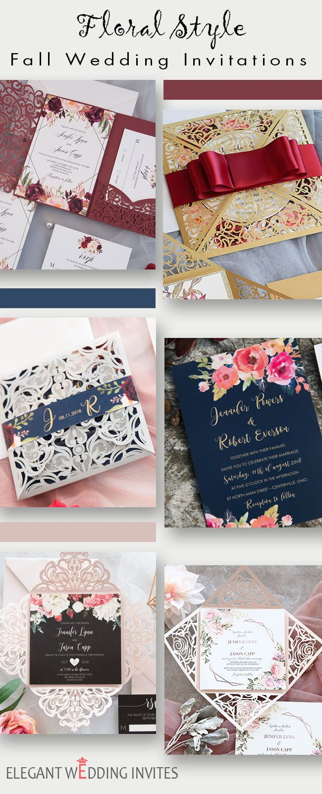 Trendy Floral Wedding Invitations For Fall Brides: Inexpensive Fall Wedding Invitations At Websimilar.org