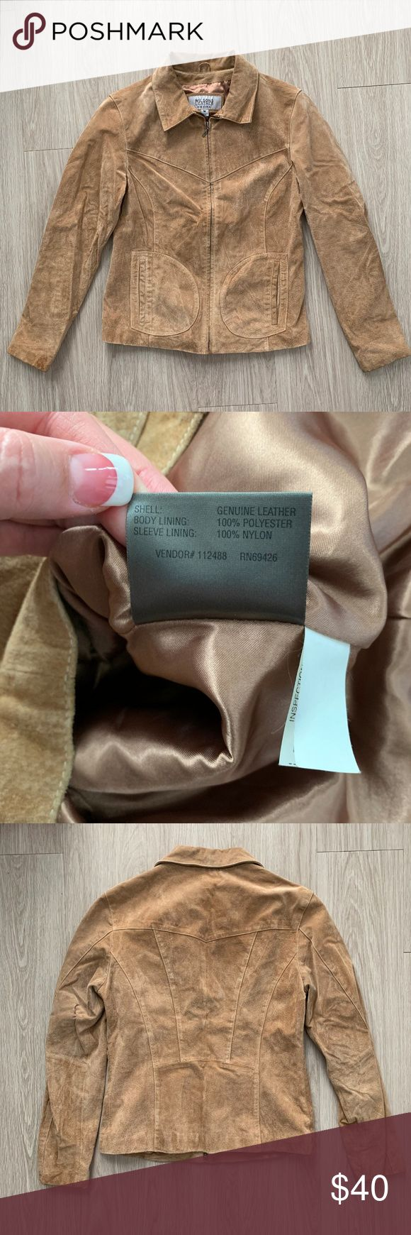 Wilsons Leather Maxima Full Zip Front Jacket Used