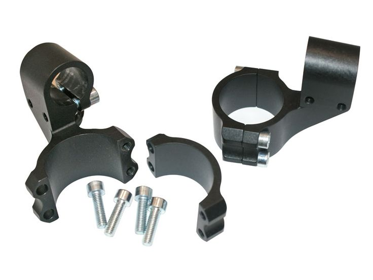Yamaha '15 R3 41mm Clipon Assembly - Aftermarket clipons and risers have major interference issues on the new R3, so Woodcraft designed a special set that bolts right on the R3 - street or track.