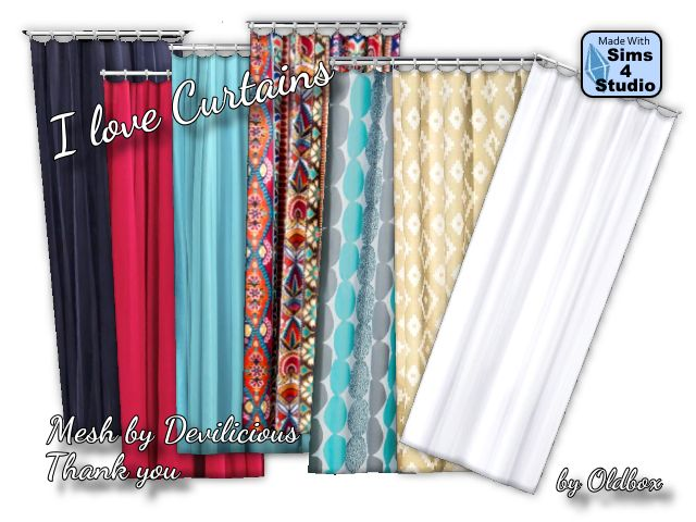 Lana CC Finds - Curtain Recols by Oldbox