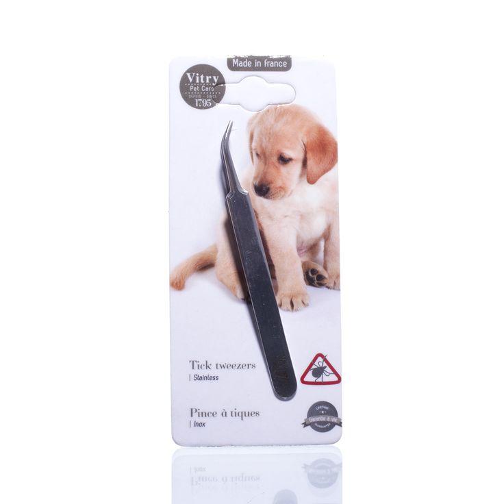Vitry Tekenpincet | huisdieren | honden en katten | Tekenpincet uit roestvrij staal om teken bij je huisdier te verwijderen.