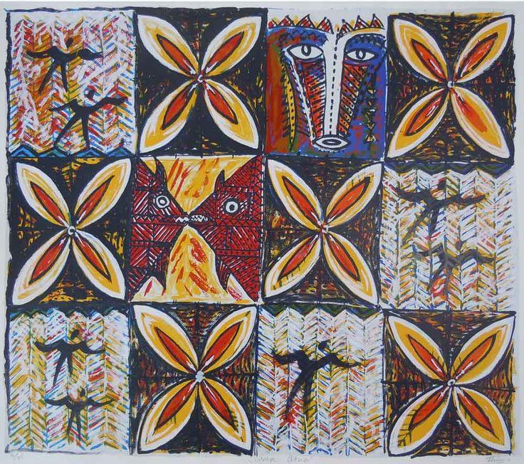 Mata Atua, Fatu Feu'u. Parnell Gallery Artist.  http://www.parnellgallery.co.nz/artists/fatu-feuu/