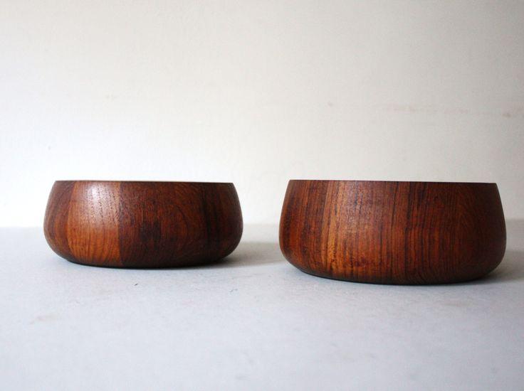 Pair of Vintage Mid Century Dansk Danish Denmark Modern Staved Teak Bowls by TheRoughGem on Etsy